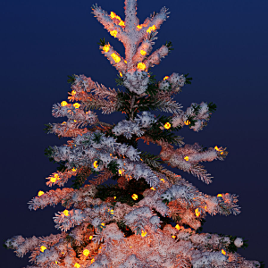 Christmas fir royalty-free 3d model - Preview no. 2