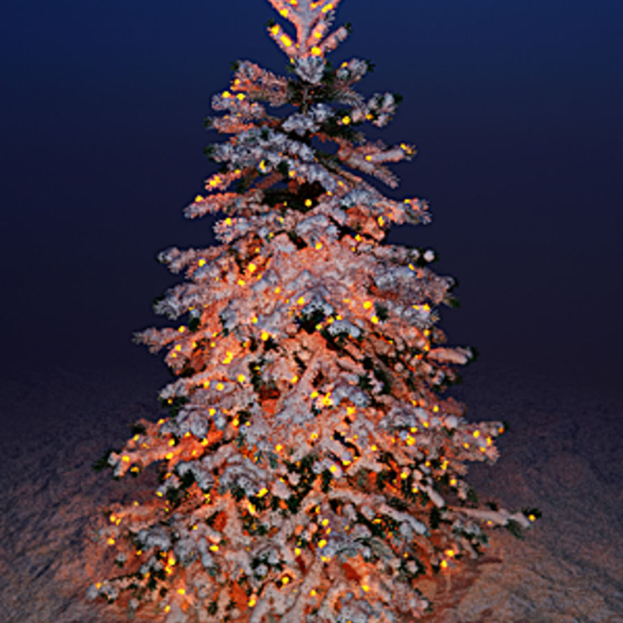 Christmas fir royalty-free 3d model - Preview no. 1