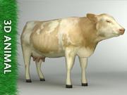 Cow (lowpoly 3d model) 3d model