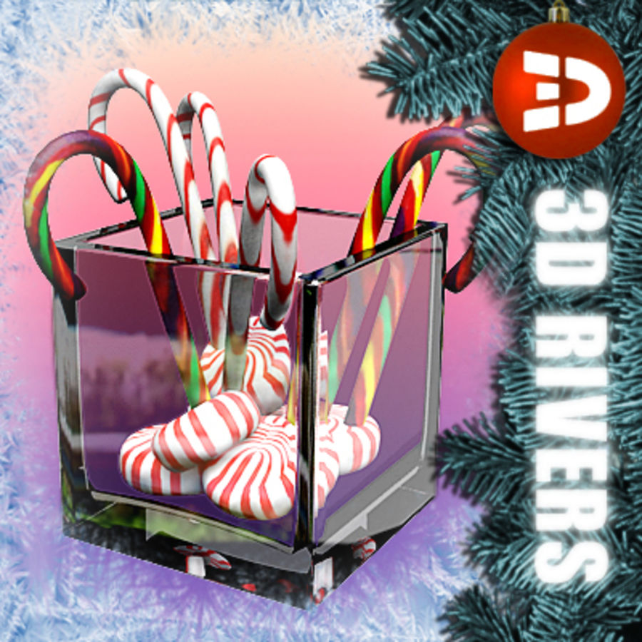 Christmas candies by 3DRivers royalty-free 3d model - Preview no. 1