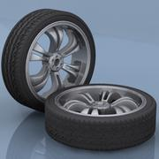Automobile Tires 3d model