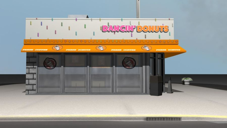 DancinDonuts.mb royalty-free 3d model - Preview no. 4