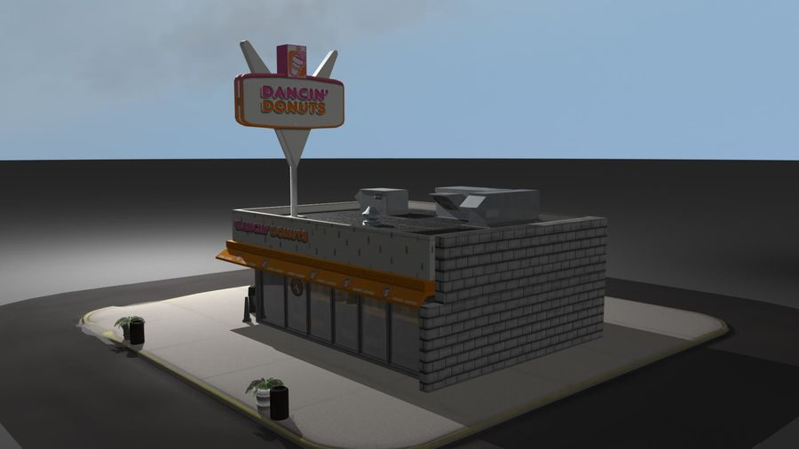 DancinDonuts.mb royalty-free 3d model - Preview no. 8