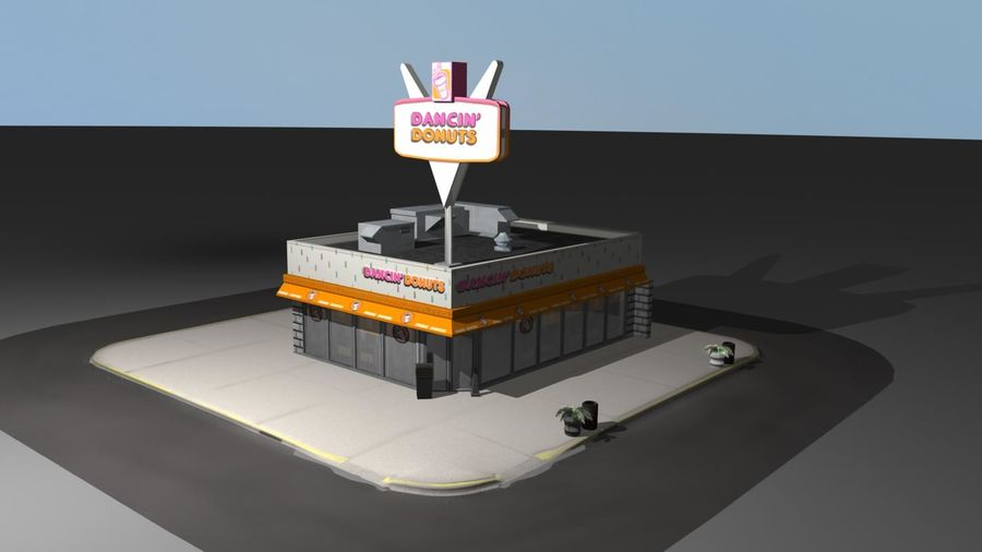 DancinDonuts.mb royalty-free 3d model - Preview no. 2