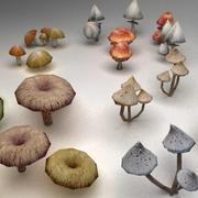 Mushrooms collection 3d model