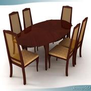 Classic Dinner Table 3d model