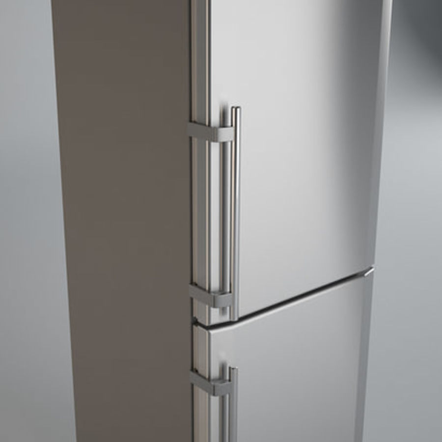 Refrigerator Liebherr royalty-free 3d model - Preview no. 2
