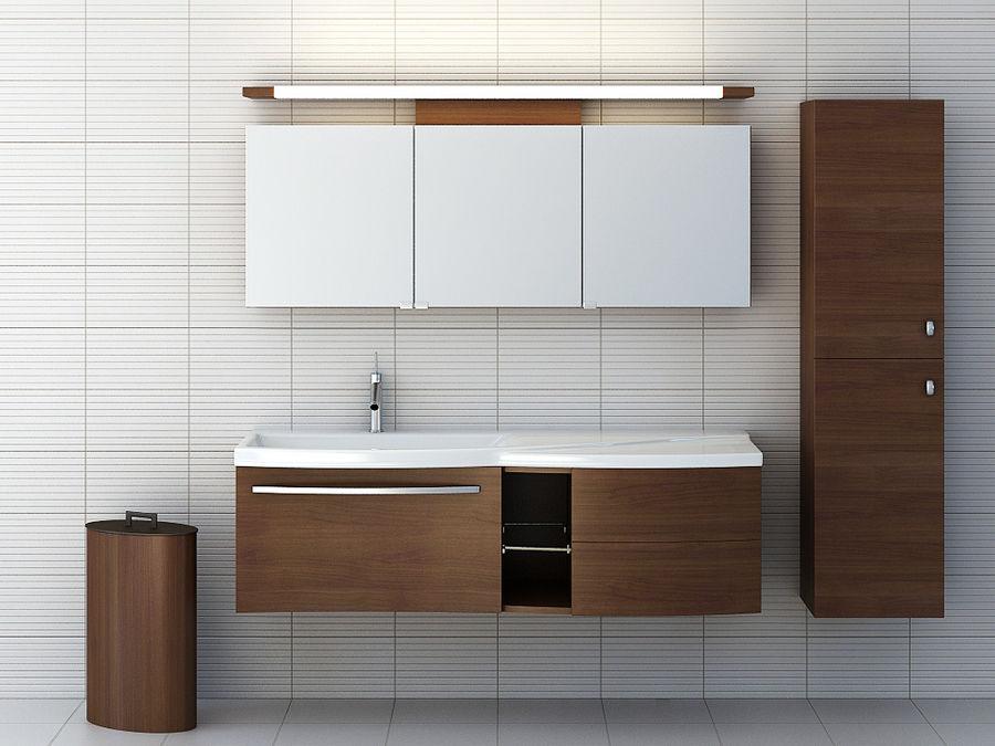 bathroom furniture set 3 royalty-free 3d model - Preview no. 1