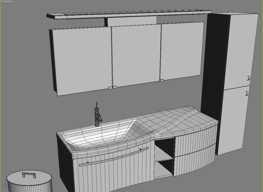 bathroom furniture set 3 royalty-free 3d model - Preview no. 2