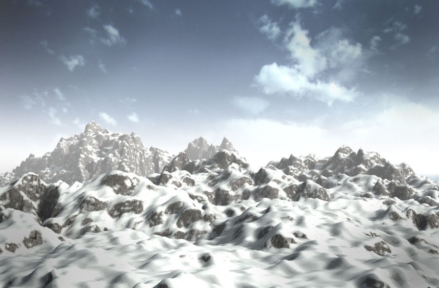 mountains.max royalty-free 3d model - Preview no. 1