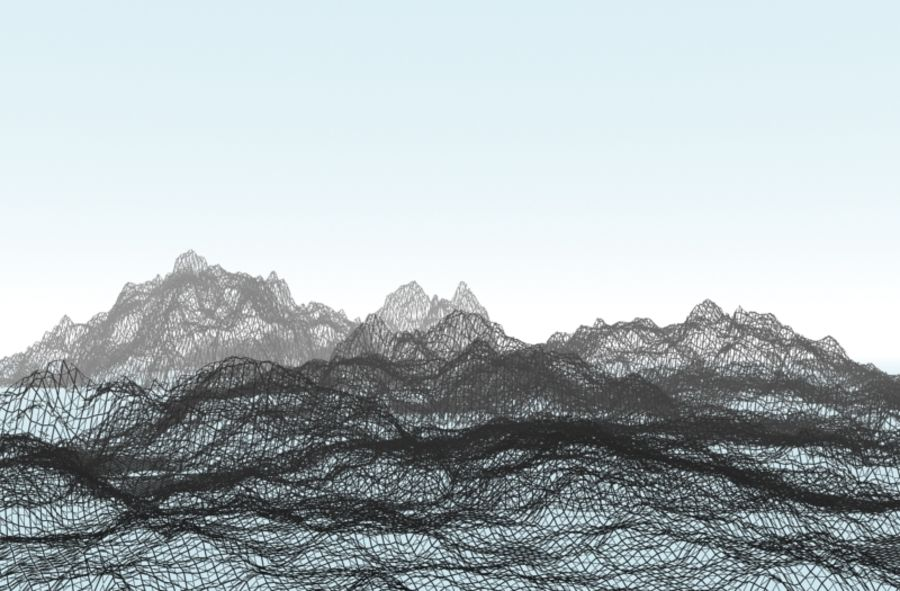 mountains.max royalty-free 3d model - Preview no. 2