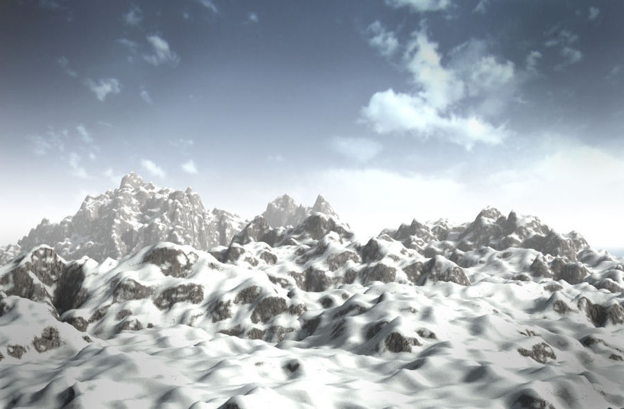 mountains.max royalty-free 3d model - Preview no. 3