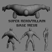 Super Villain-Hero Blank 3d model