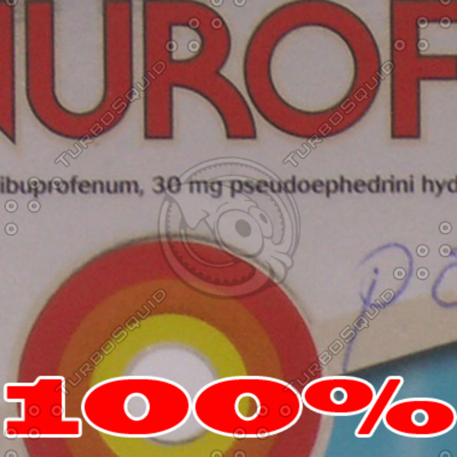 Nurofen Box royalty-free 3d model - Preview no. 7