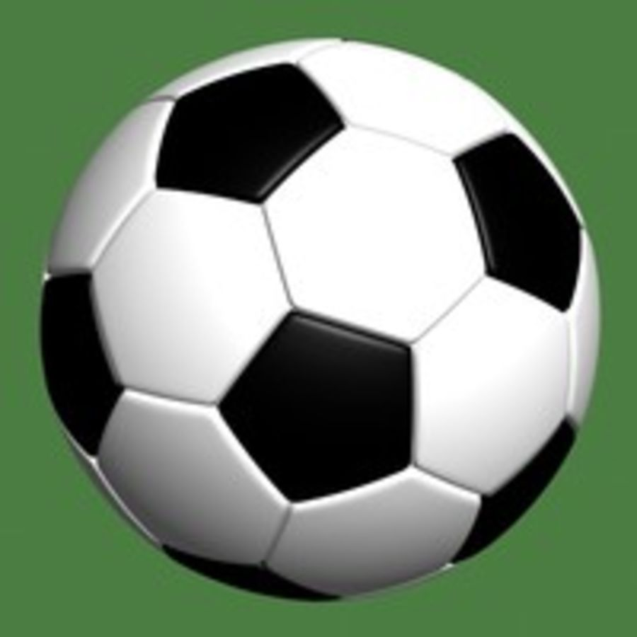 Fotboll royalty-free 3d model - Preview no. 3