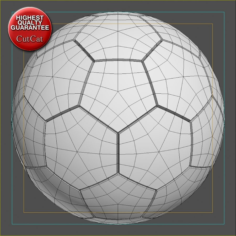 Fotboll royalty-free 3d model - Preview no. 5