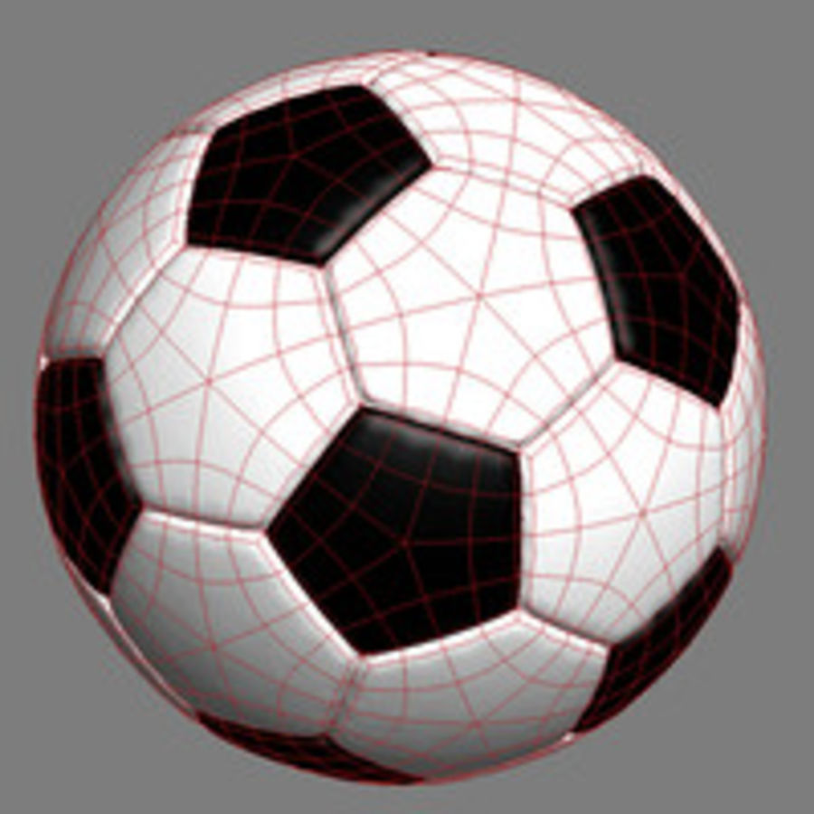 Fotboll royalty-free 3d model - Preview no. 4