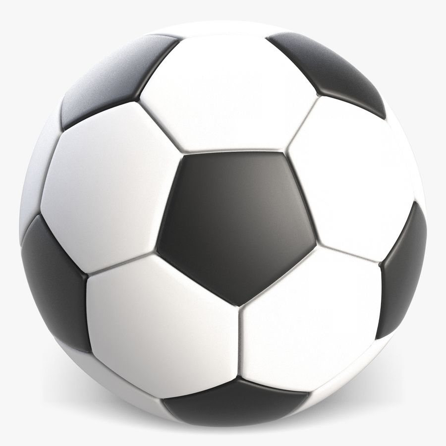 Fotboll royalty-free 3d model - Preview no. 2