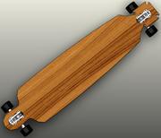 Longboard Skateboard Malteser Form in SolidWorks 2009 3d model