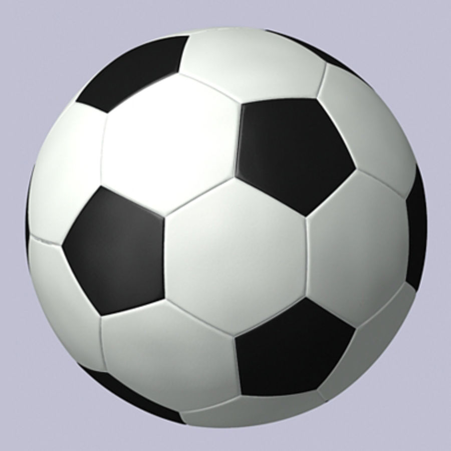 ball soccer royalty-free 3d model - Preview no. 1