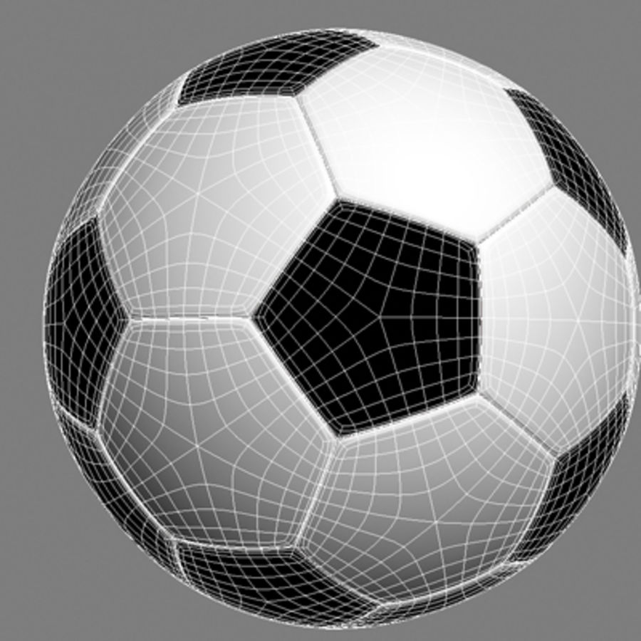 ball soccer royalty-free 3d model - Preview no. 3