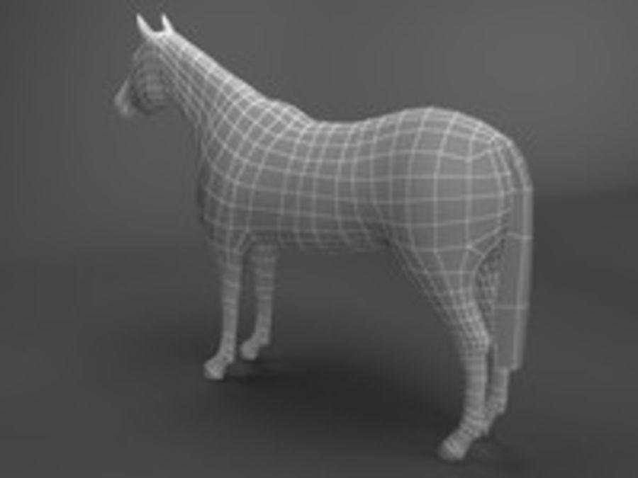 Horse 3d model royalty-free 3d model - Preview no. 7