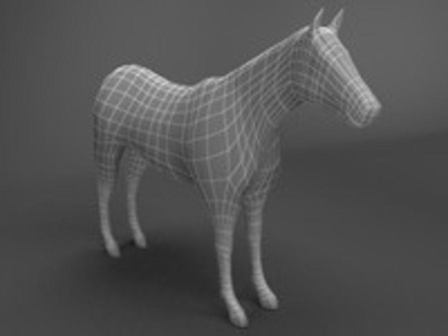 Horse 3d model royalty-free 3d model - Preview no. 6
