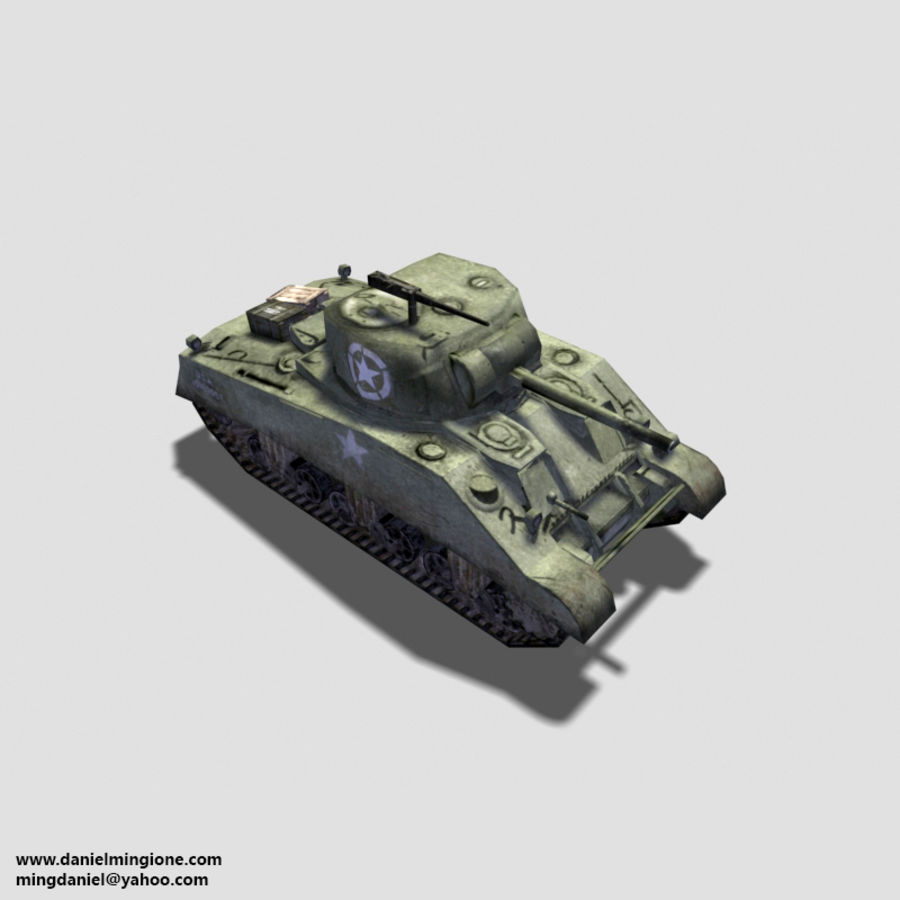 SHERMAN TANK royalty-free 3d model - Preview no. 1