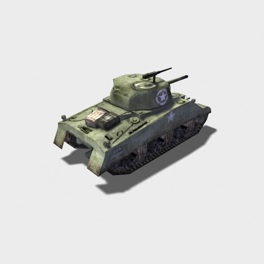 SHERMAN TANK royalty-free 3d model - Preview no. 2
