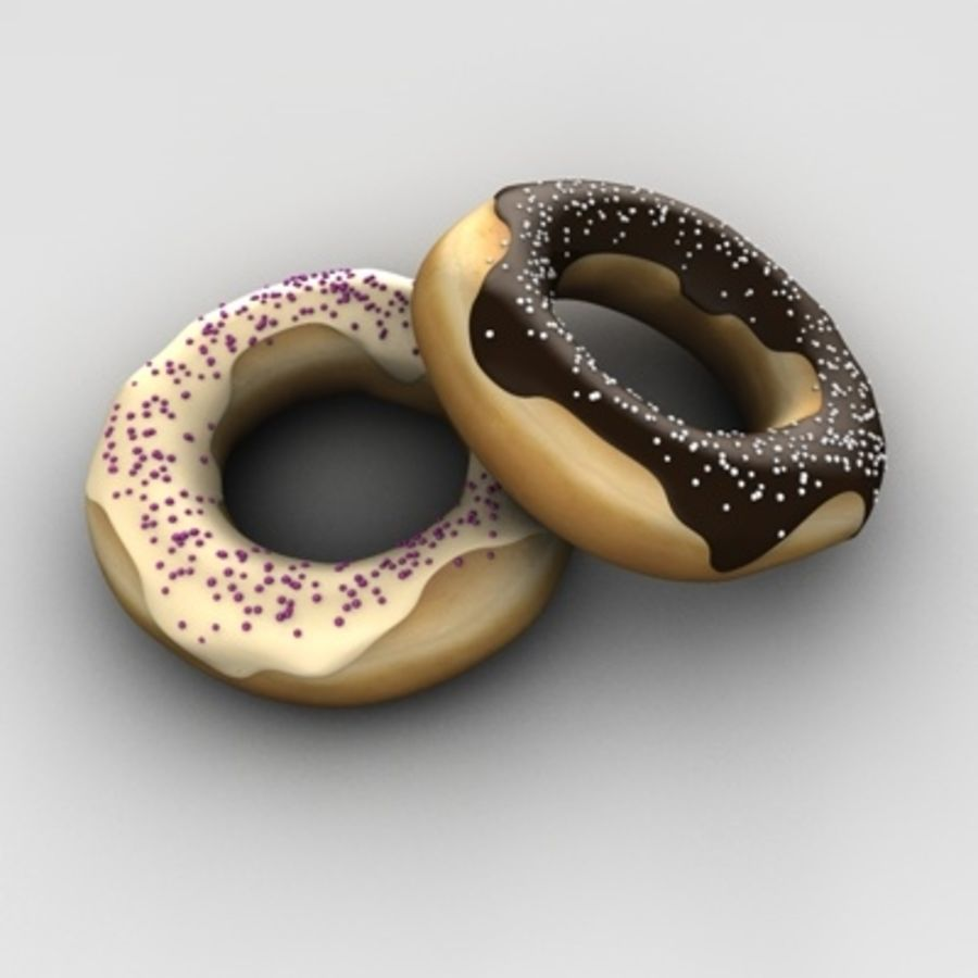donuts royalty-free 3d model - Preview no. 1