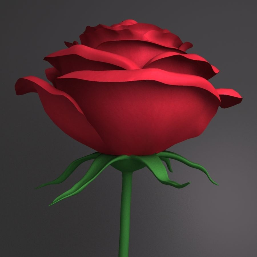 Rose royalty-free 3d model - Preview no. 3
