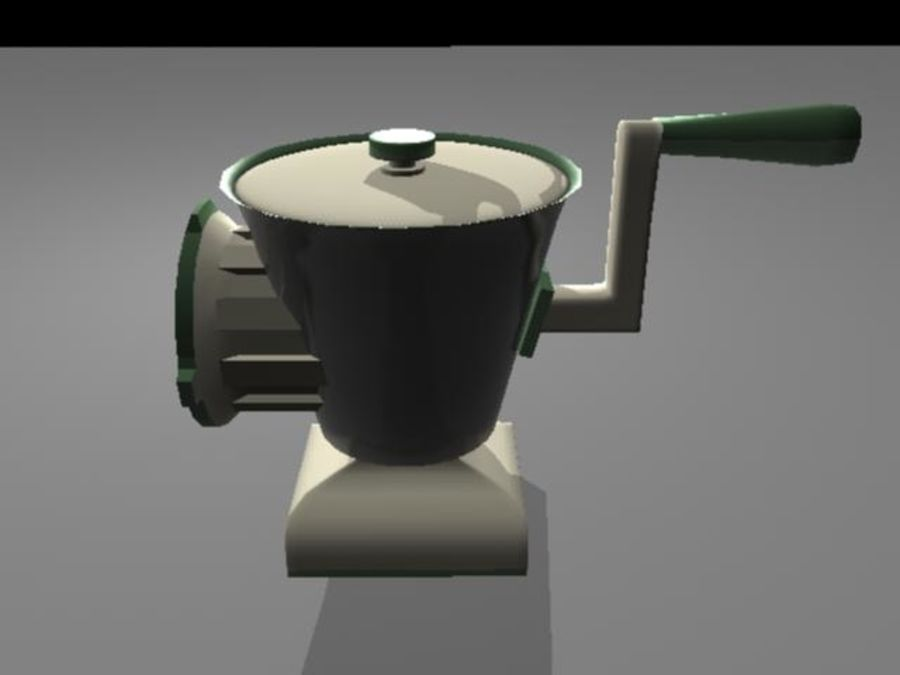 Meat Grinder royalty-free 3d model - Preview no. 4