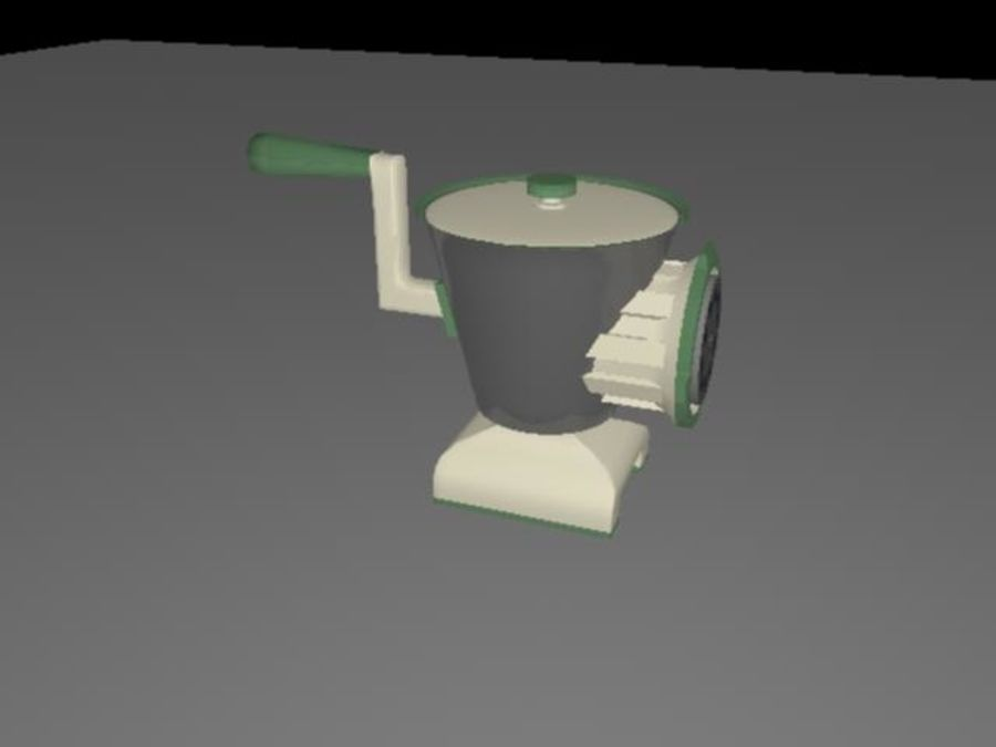 Meat Grinder royalty-free 3d model - Preview no. 5