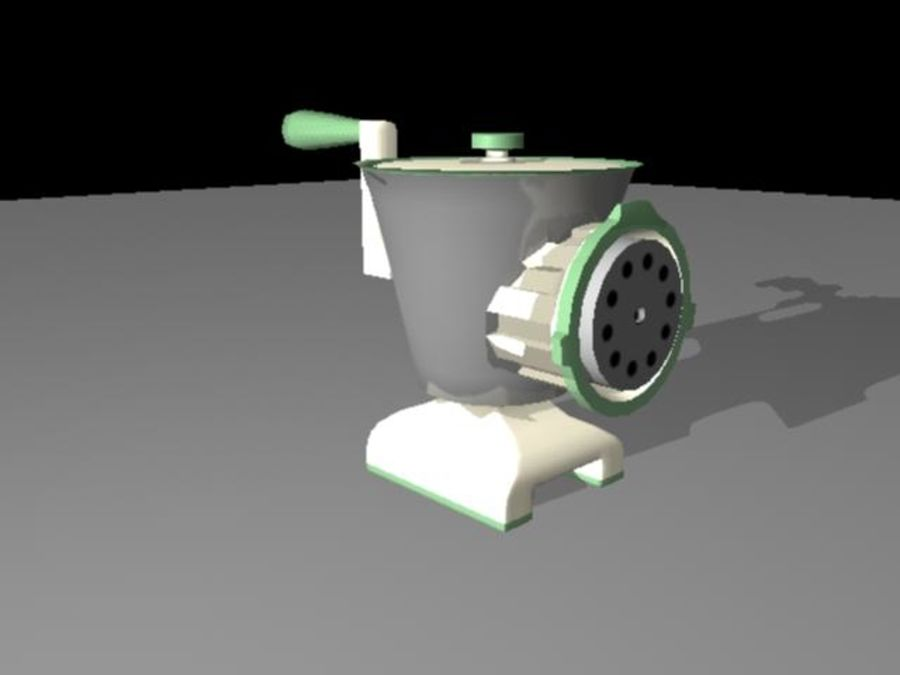 Meat Grinder royalty-free 3d model - Preview no. 2