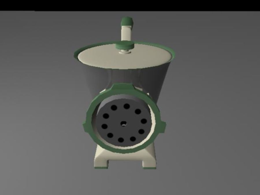 Meat Grinder royalty-free 3d model - Preview no. 6