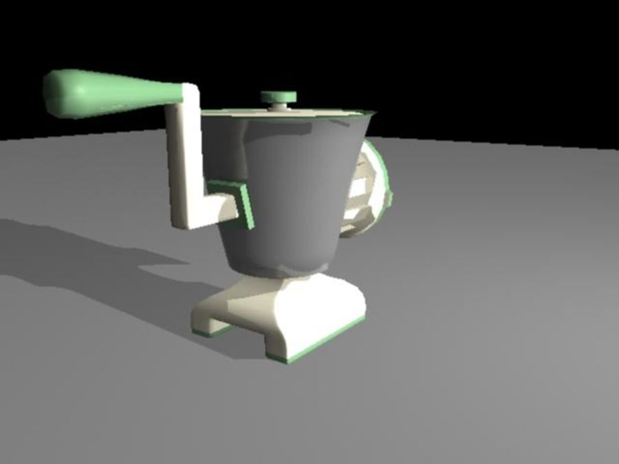 Meat Grinder royalty-free 3d model - Preview no. 3