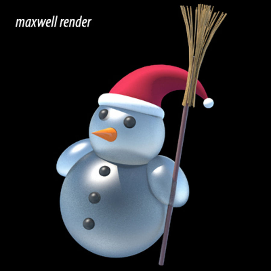 snowman - Maxwell Ready royalty-free 3d model - Preview no. 1