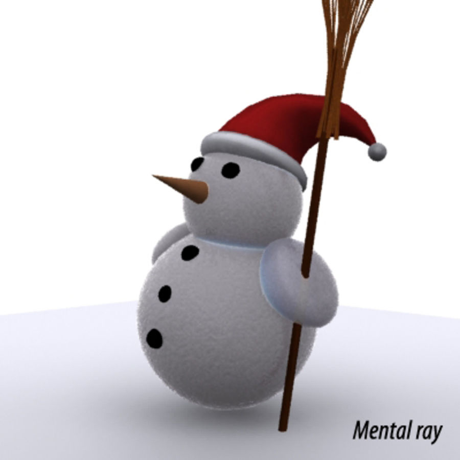 snowman - Maxwell Ready royalty-free 3d model - Preview no. 4