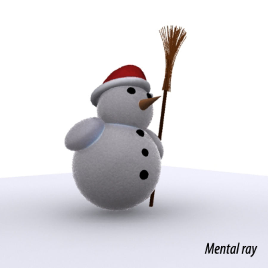 snowman - Maxwell Ready royalty-free 3d model - Preview no. 2