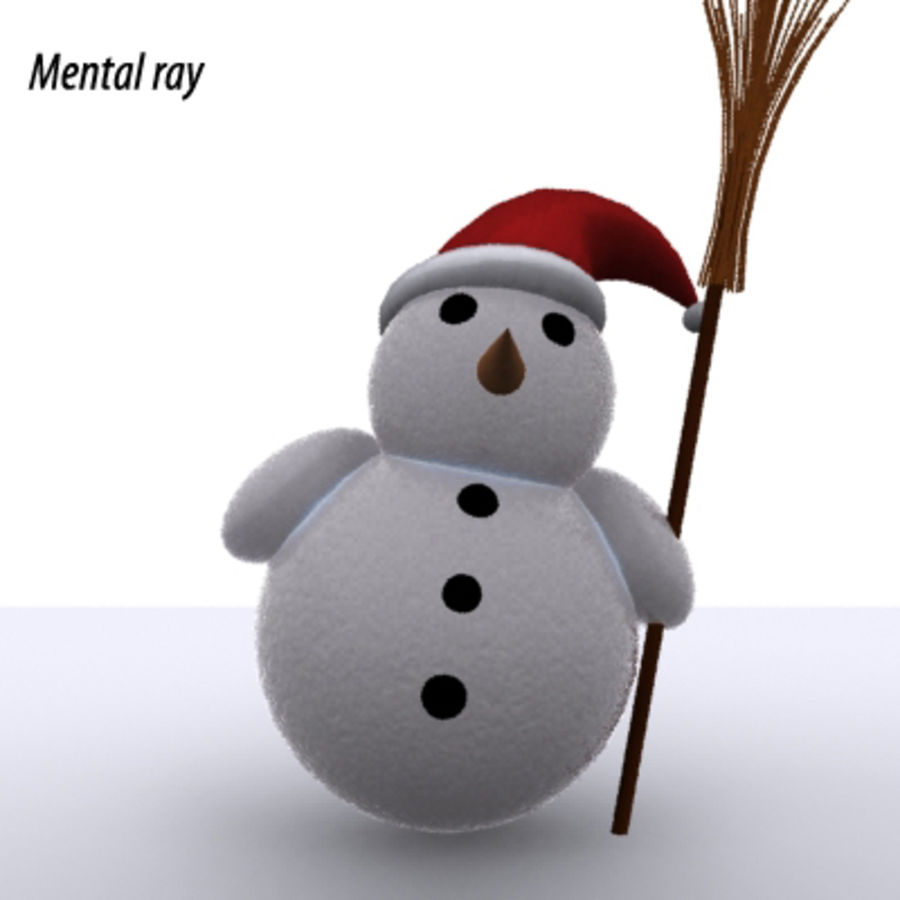 snowman - Maxwell Ready royalty-free 3d model - Preview no. 3
