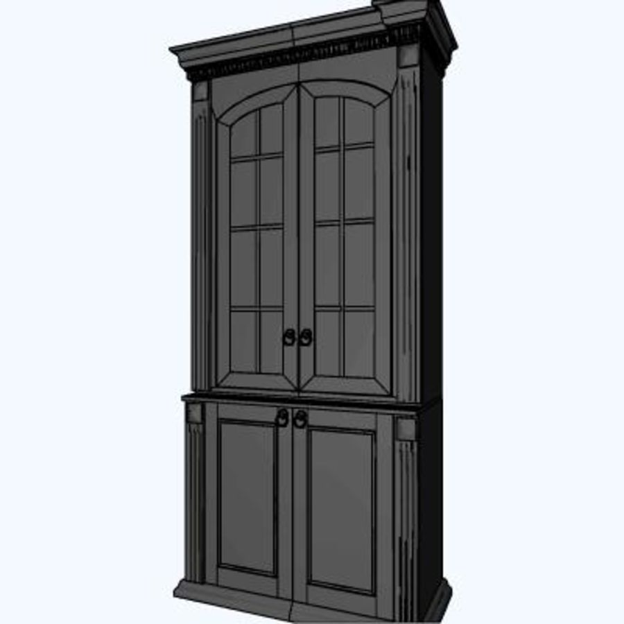 Classic cabinet royalty-free 3d model - Preview no. 4