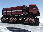 Snow-Fire Truck 3d model