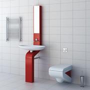 bathroom furniture set 5 3d model