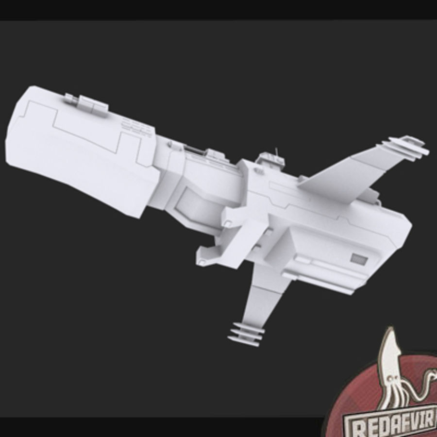 Scifi Spacecraft Destroyer royalty-free 3d model - Preview no. 5