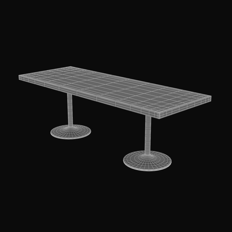LC 11 Table royalty-free 3d model - Preview no. 8