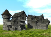 Midievial Häuser 3d model