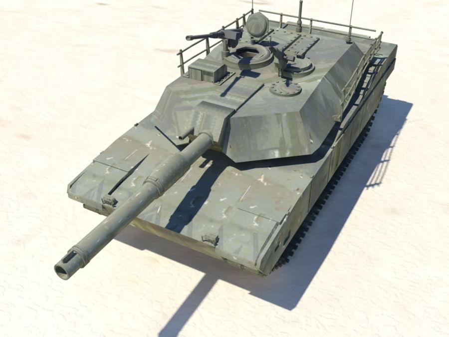 M1A1 TANK royalty-free 3d model - Preview no. 5