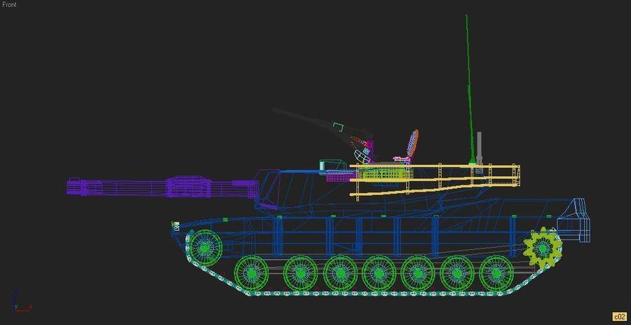 M1A1 TANK royalty-free 3d model - Preview no. 7