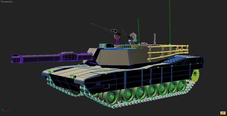 M1A1 TANK royalty-free 3d model - Preview no. 2
