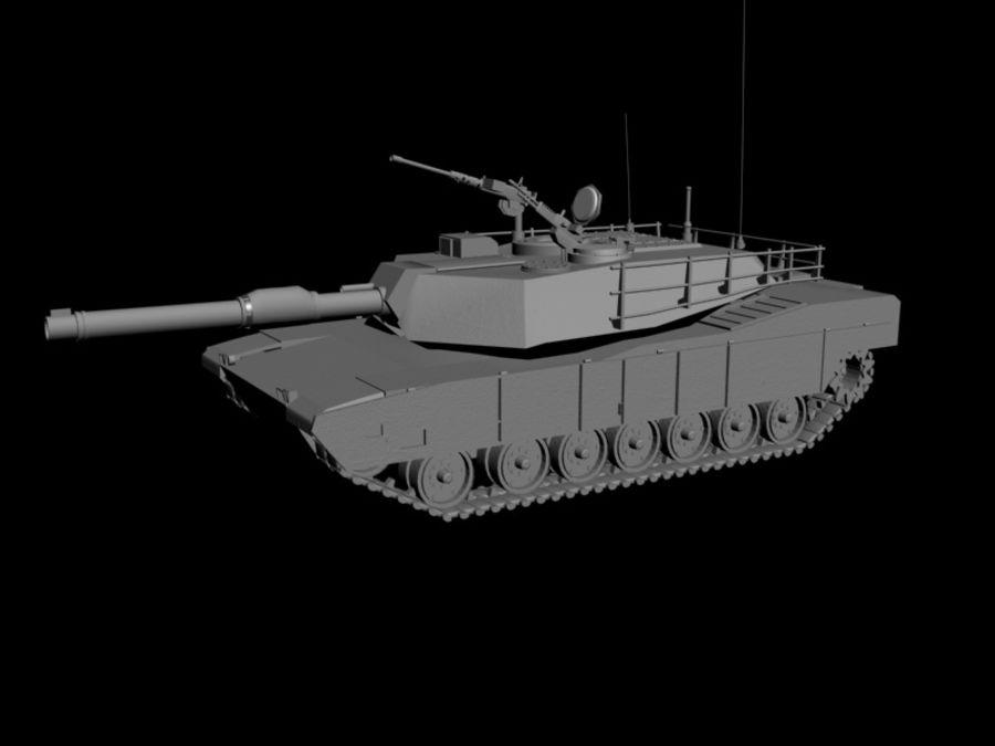 M1A1 TANK royalty-free 3d model - Preview no. 10